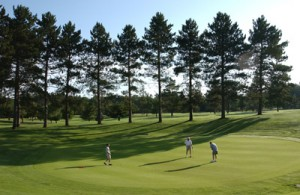 Golfers in Vilas County enjoy gorgeous forest scenery.