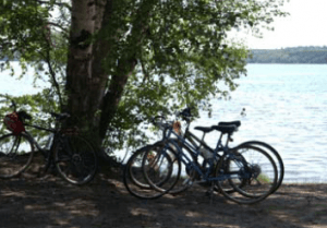 Beautiful scenic bicycle routes in Vilas County