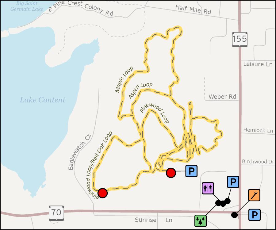 Map - Awassa Nature Preserve And Hiking Trail