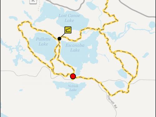 Escanaba Pallette Lake Trails