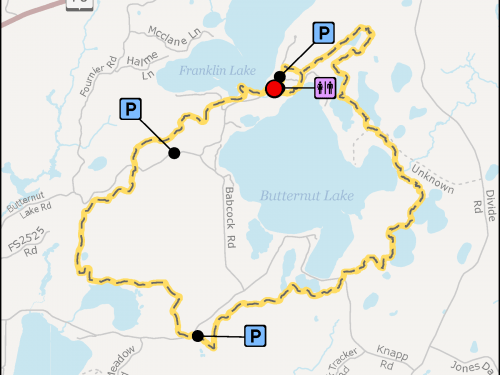 Map - Hidden Lakes Trail