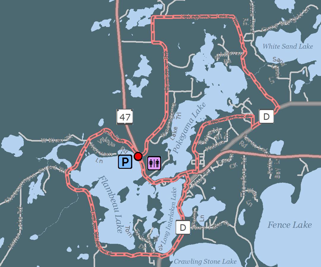 Lac Du Flambeau Route Vilas County Wisconsin Tri