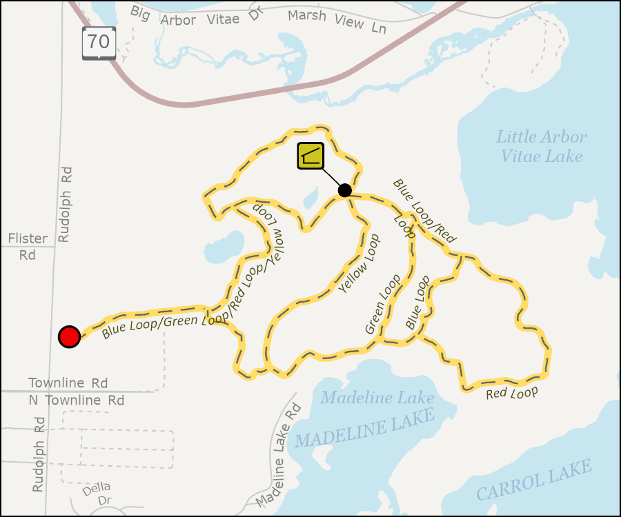 Map - Madeline Lake Trail