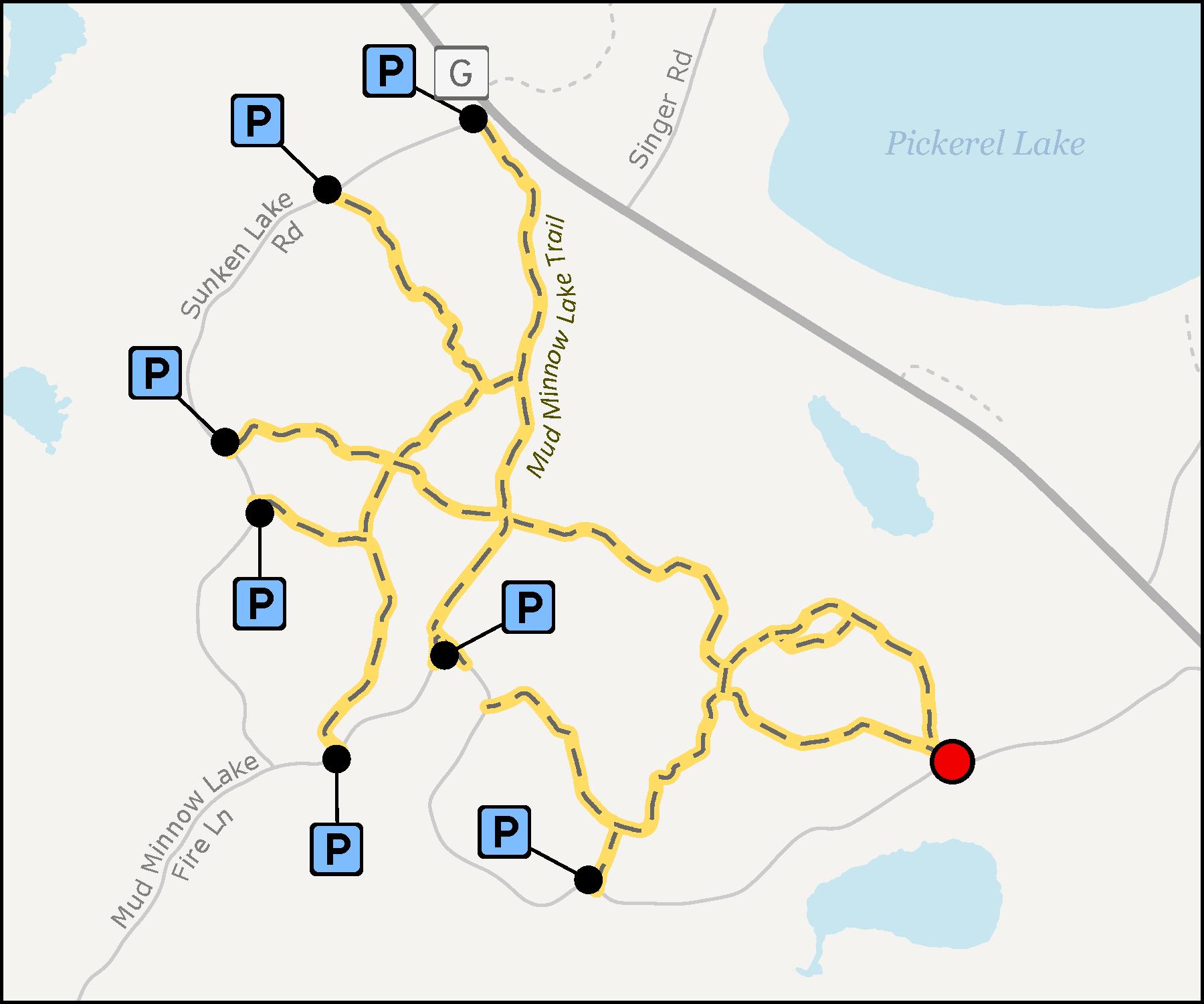 Map - Mud Minnow Lake Trail