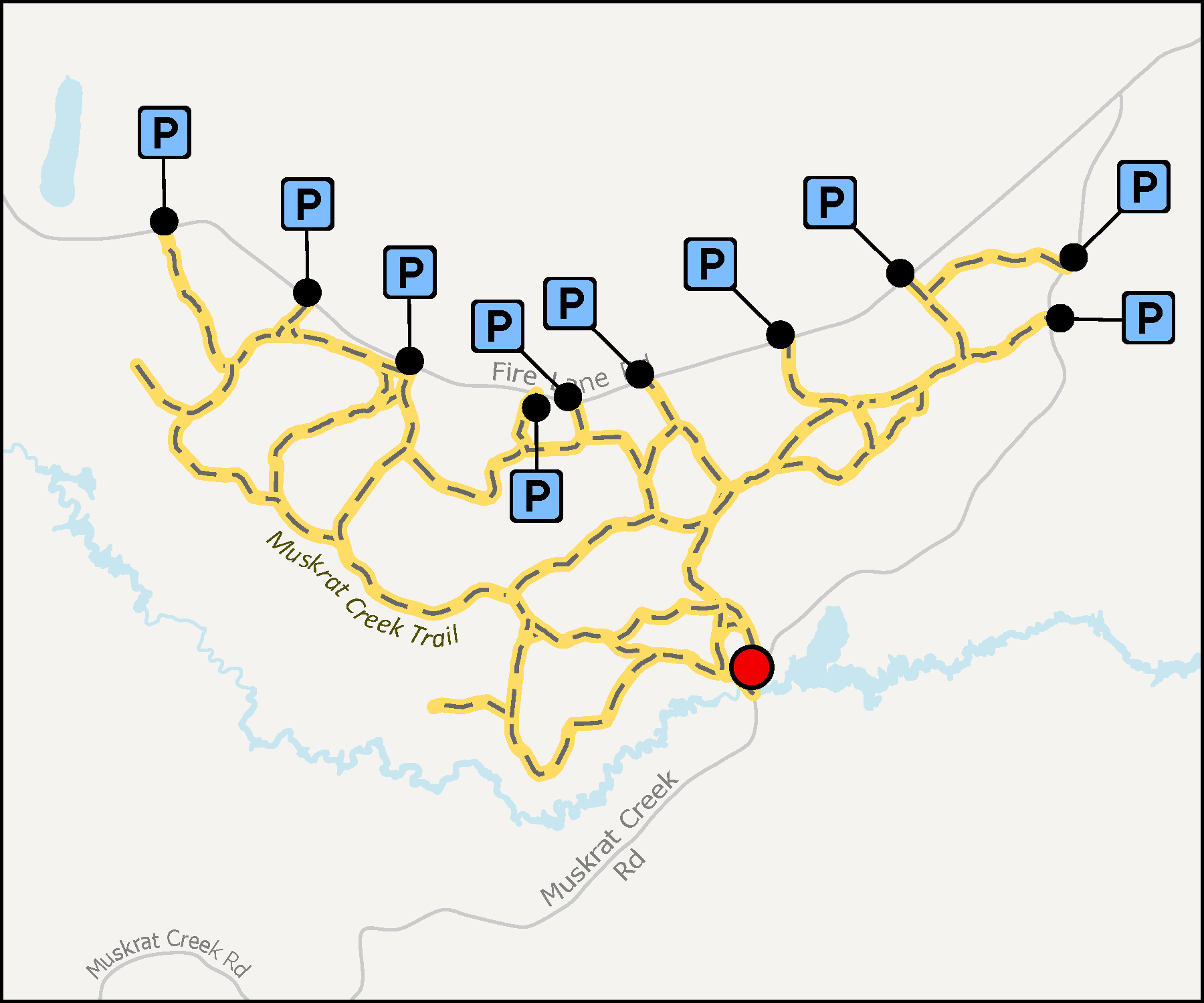 Map - Muskrat Creek Trail
