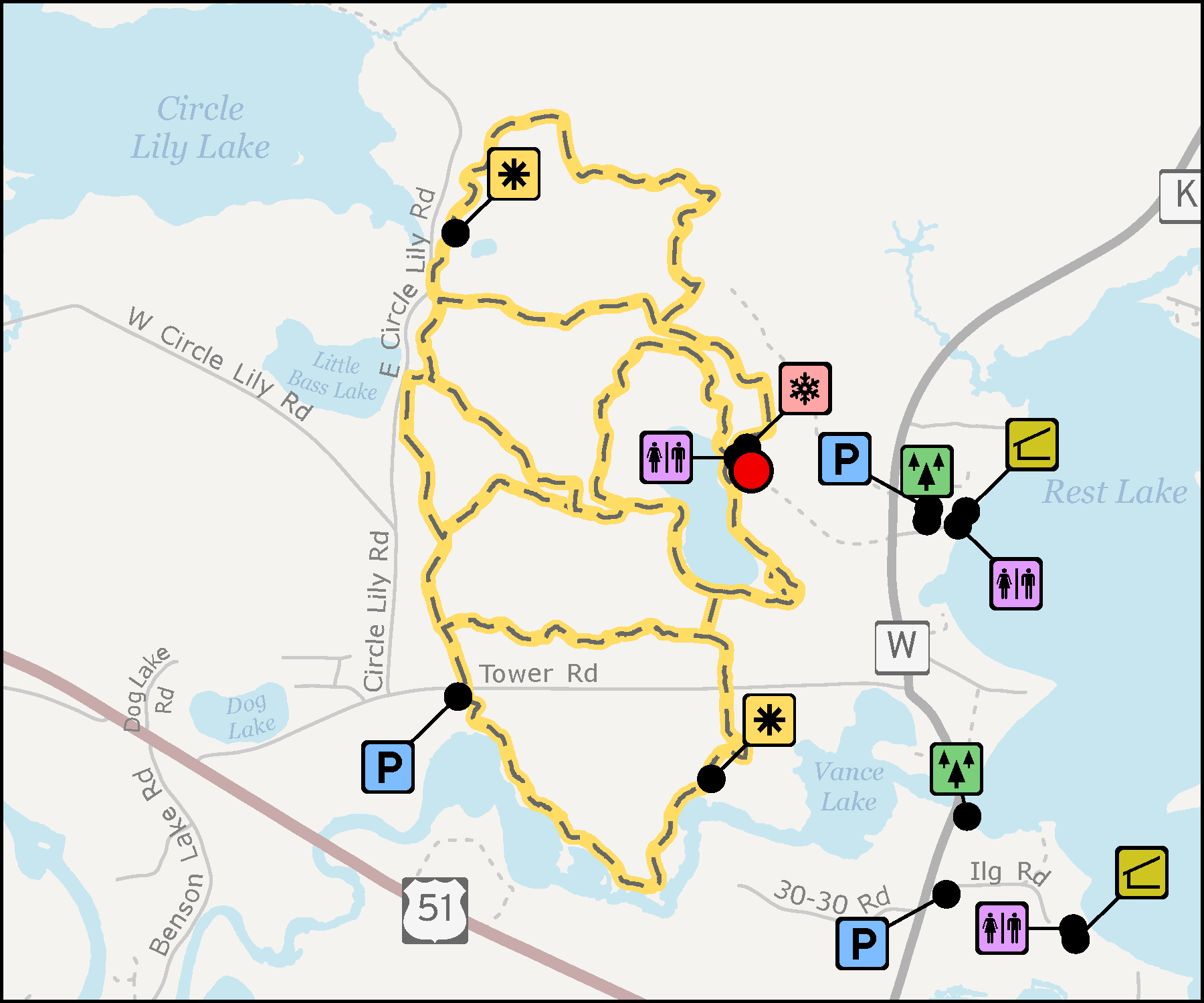 Map - North Lakeland Discovery Center Trails