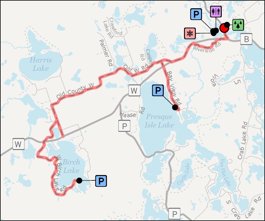 Map - Presque Isle Winchester Bike Route