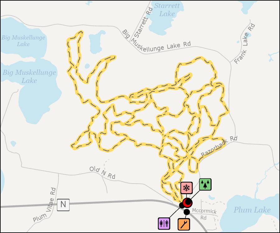 Map - Razorback Ridges Trails