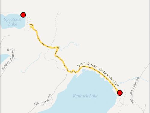 Map - Spectacle Lake Kentuck Lake Trails