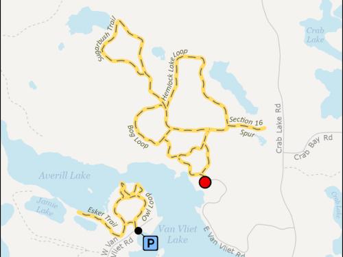 Map - Van Vliet Hemlocks