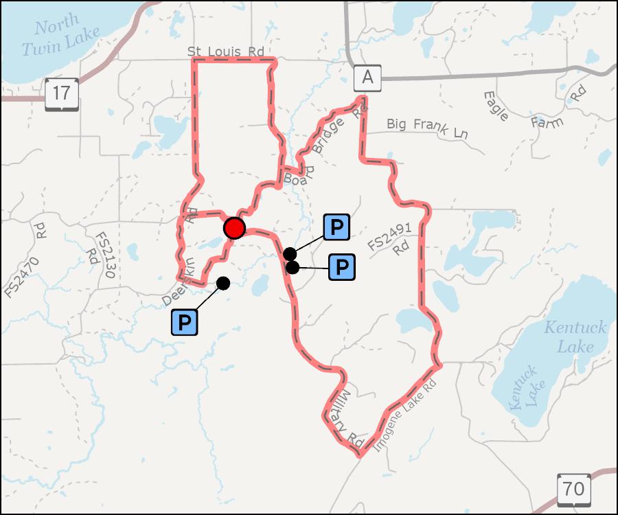 Map - Vista Lake Biking Trails
