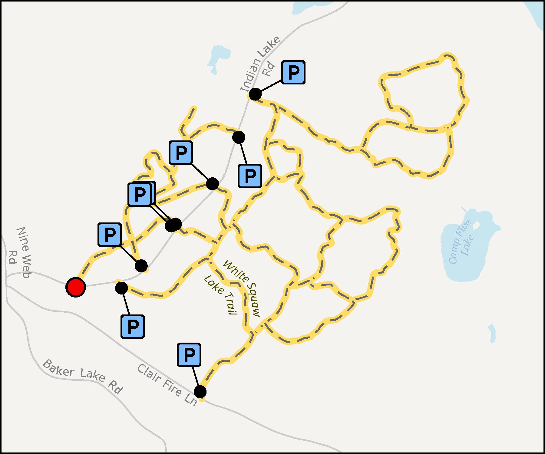 White Squaw Lake Trail