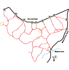 Muskrat Creek trail map