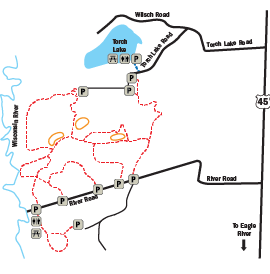 Torch Lake Trails