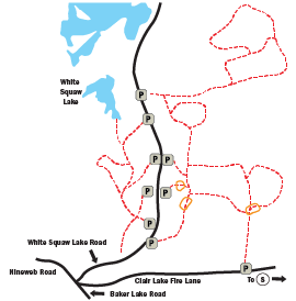 White Squaw trail map