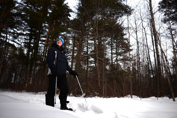 Snowshoeing in the Catherine Wolter Wilderness Area