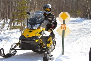 Snowmobile Vilas County Trails