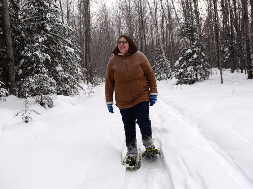 Snowshoeing in Vilas County