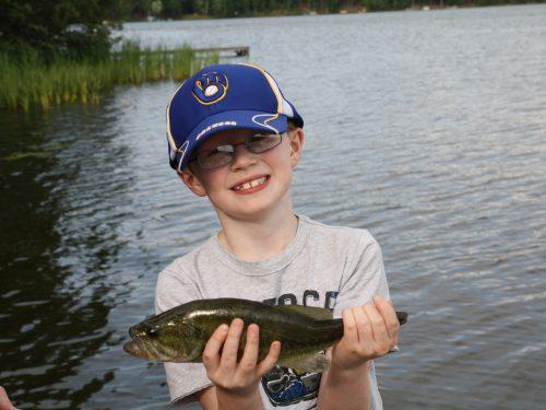 Boy fishing in Vilas County