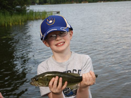 Boy fishing in Vilas County