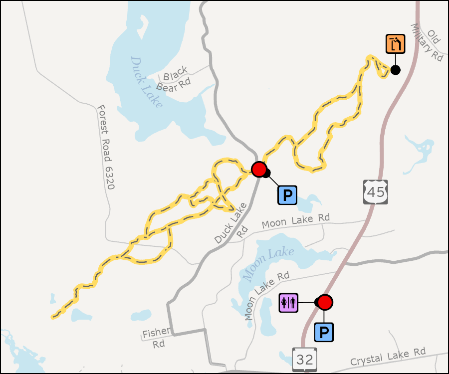 Map - Land O Lakes Cross Country Ski Trails