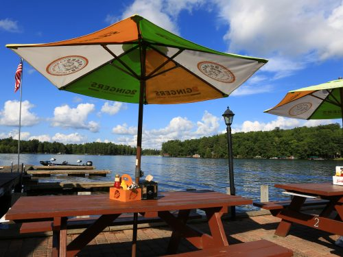 Lakeside dining in Vilas County