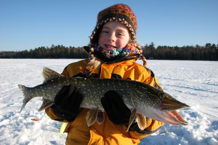 Ice fishing in Vilas County