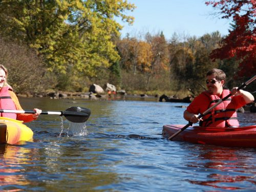 Fall paddling in Vilas County