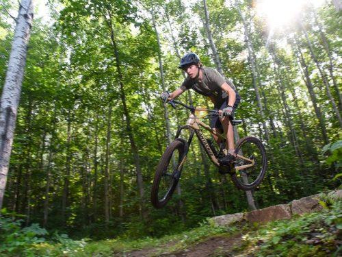 Mountain Biking On The Winman Trails.