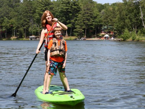 Paddleboarding in Vilas County