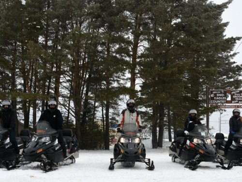 Snowmobiling in Vilas County