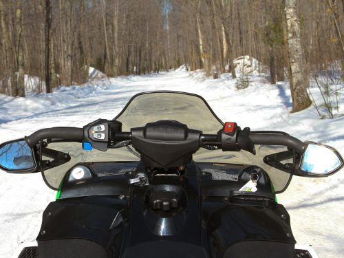 Snowmobiling on the trails
