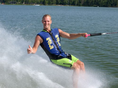 Waterskiing in Vilas County