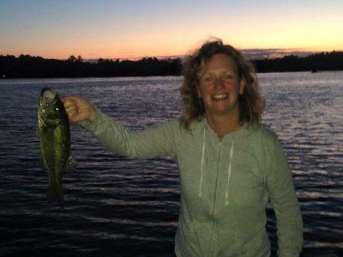 Night fishing in Vilas County!
