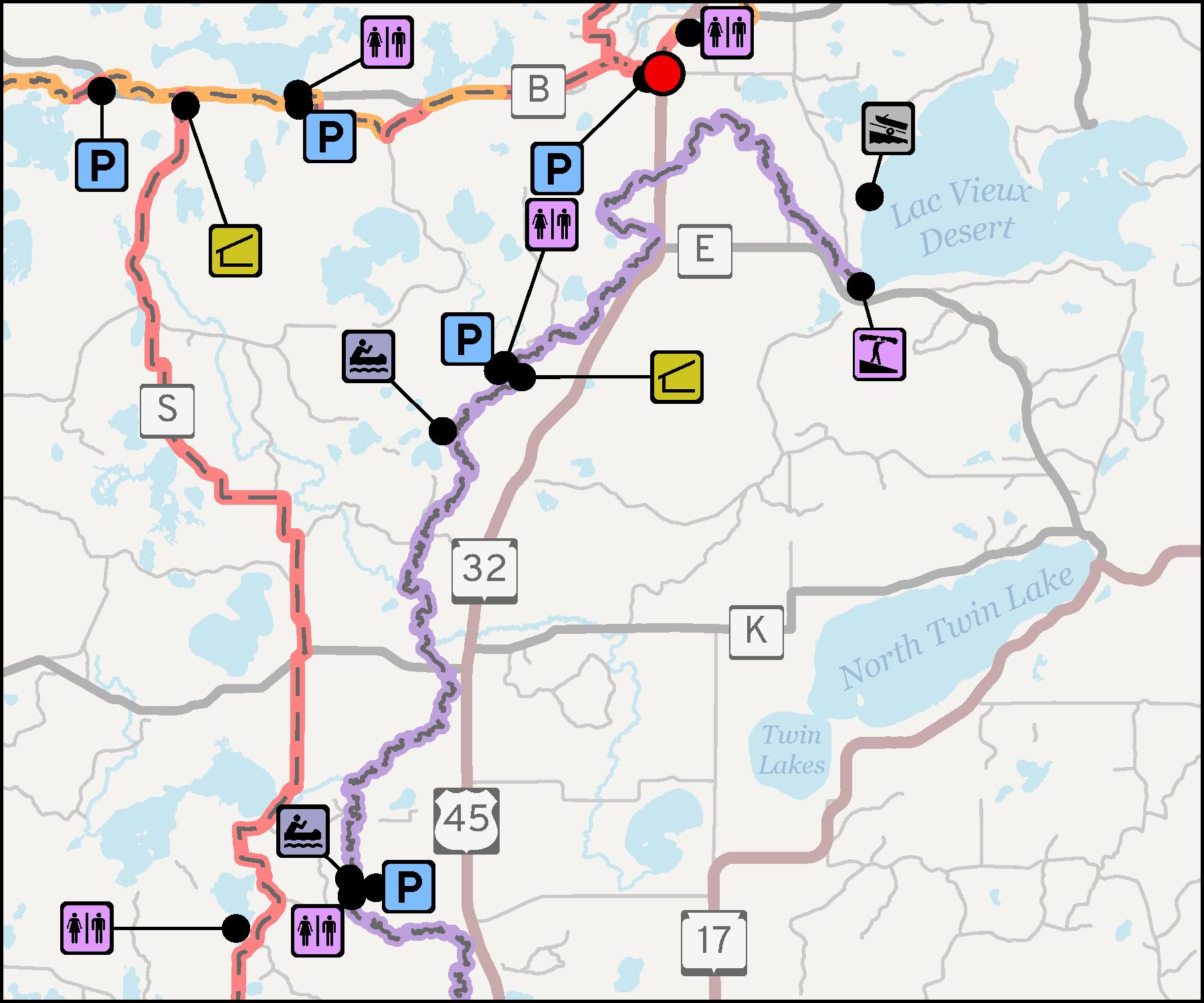 Map - Wisconsin River Centennial Trail 1