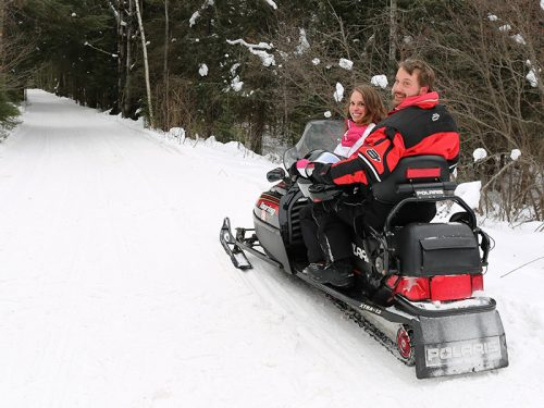 Snowmobile the trails in Vilas County