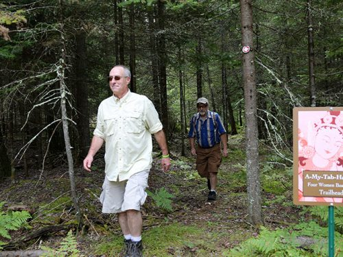 Going for a spring hike in Vilas County