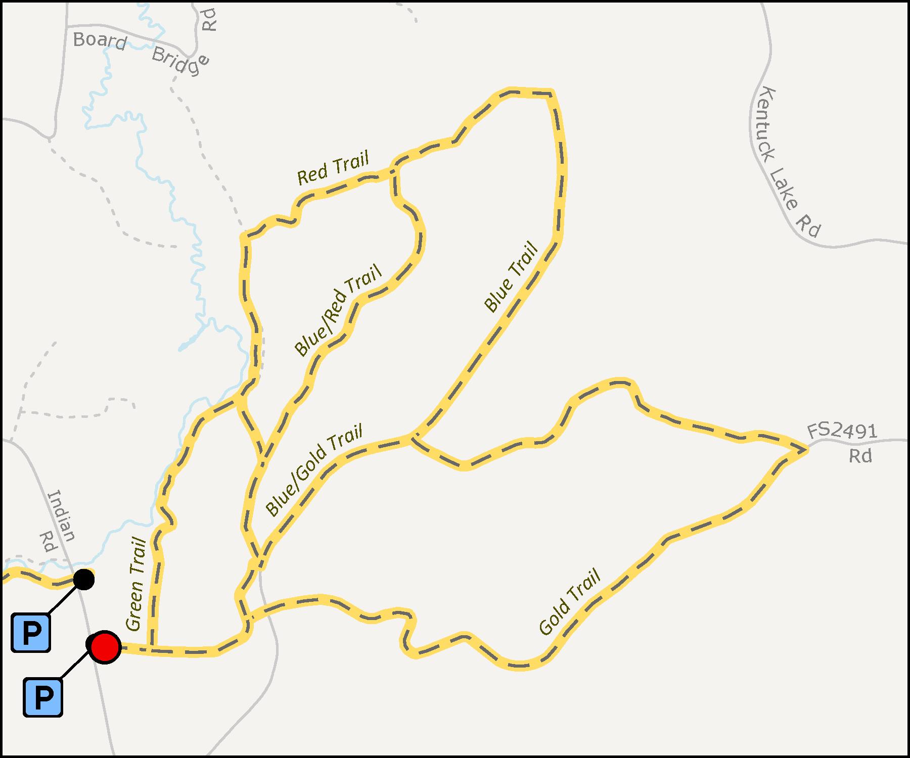 Map - Deerskin Snowshoe Trail