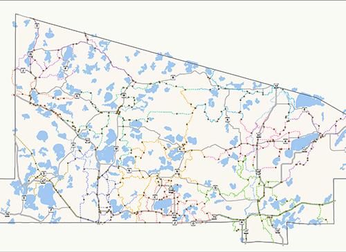 Snowmobile map
