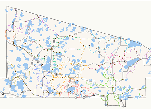 Snowmobile map