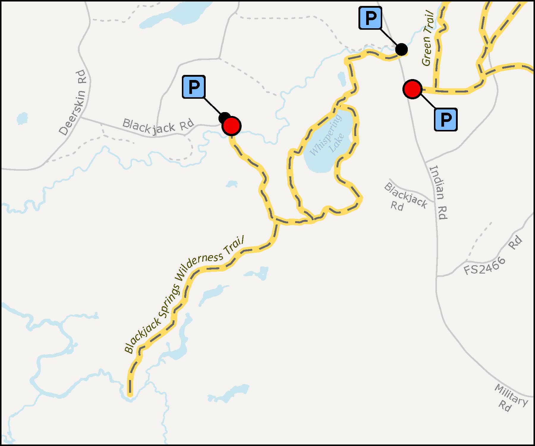 Blackjack Springs Wilderness Trail