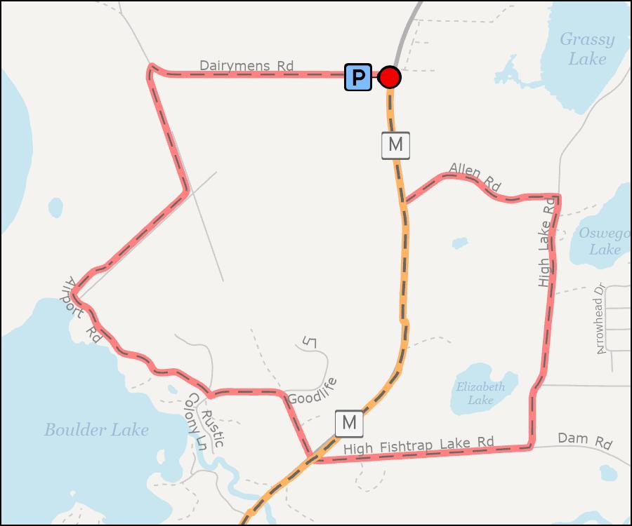 Map - White Deer Loop