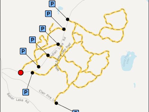 Map - White Squaw Lake Trail