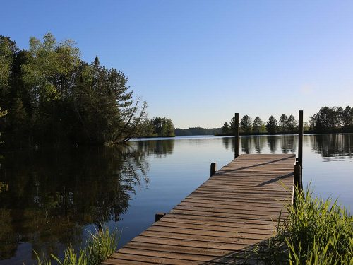 Vilas County Wisconsin lake spring