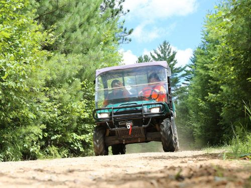 ATVing summer Vilas County Wisconsin