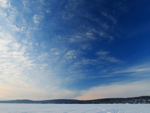 Winter scenery in Phelps, Vilas County, Wisconsin