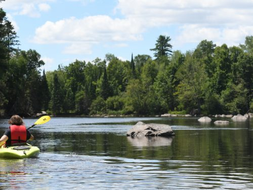 Wisconsin River paddling in Vilas County