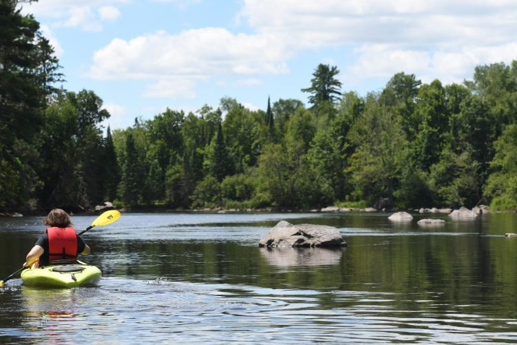 Wisconsin River paddling in Vilas County