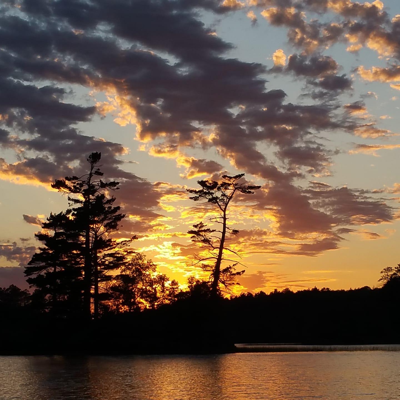 sunset crab lake presque isle wi