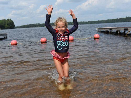 Swimming at Koller Memorial Park Manitowish Waters WI